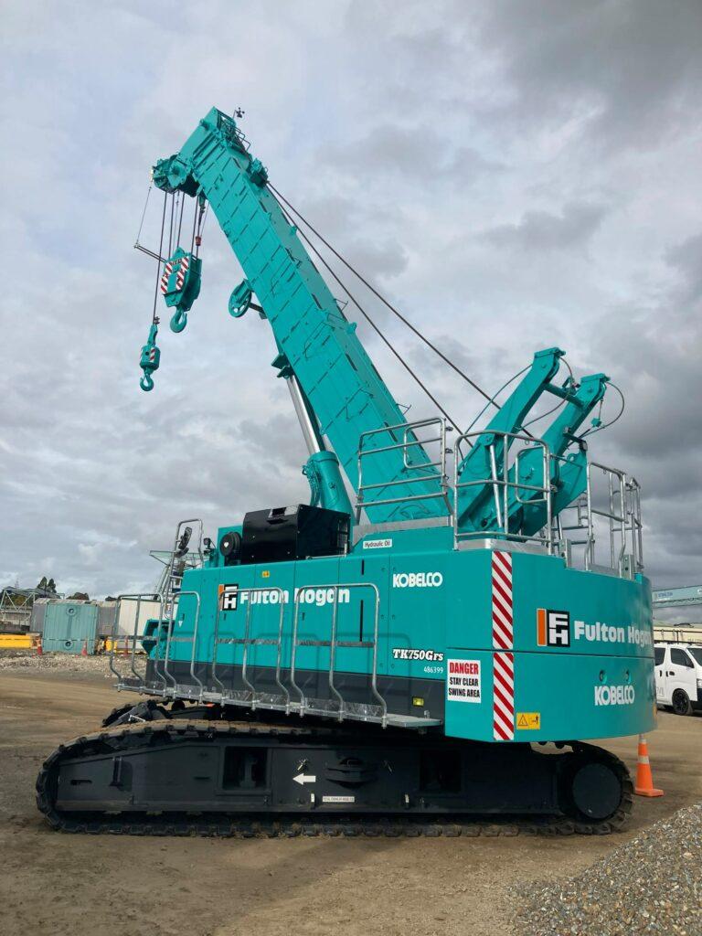 Fulton Hogan's new Kobelco TK750 Tele Crawler Crane