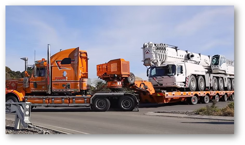 Pollock Cranes are transporting Nikau Group's newest addition to their fleet, a new Grove GMK6300L-1 300t All Terrain Crane