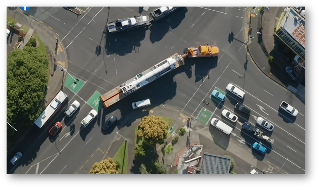 Pollock Cranes negotiating a tight corner